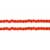 3 Cut Beads 10/0 Strung Silver lined Orange